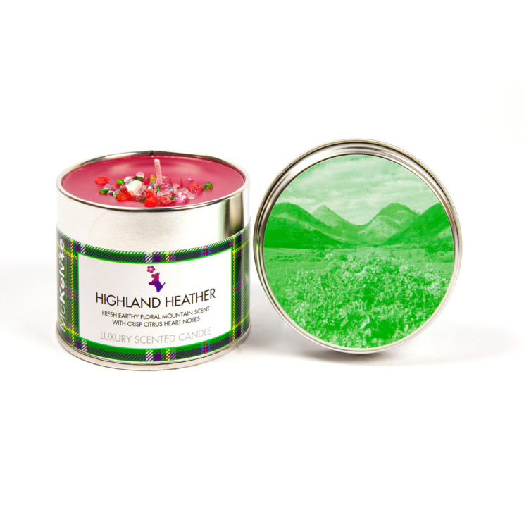 Highland Heather Scented Candle Tin