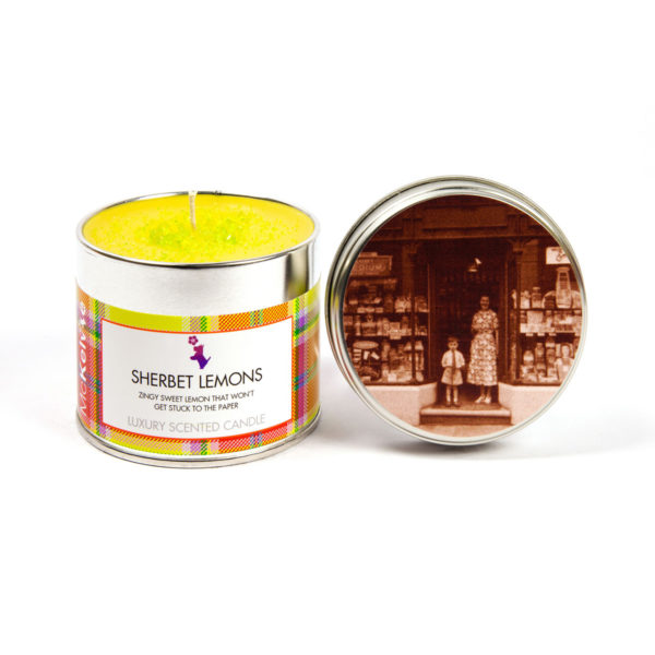 Sherbet Lemons Scented Candle Tin