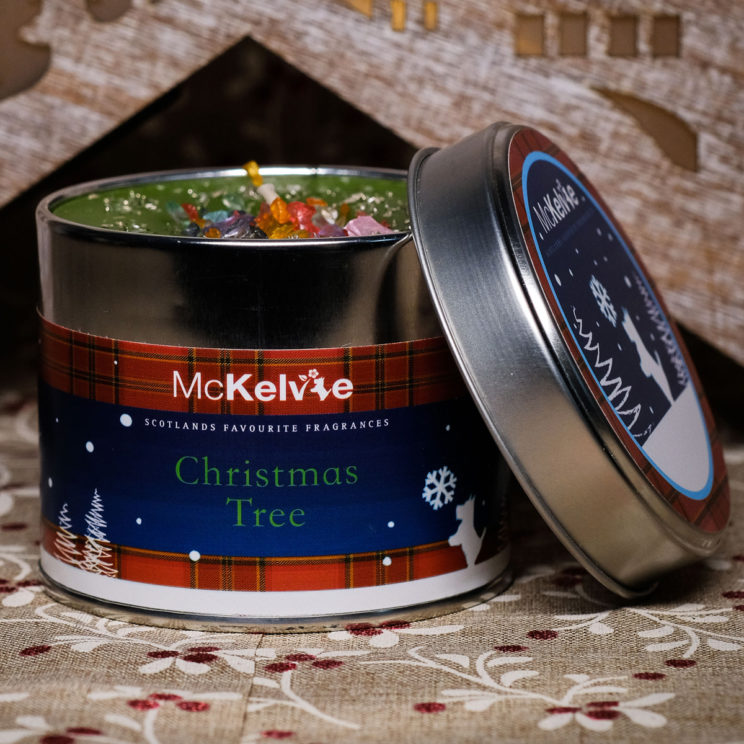 Christmas Tree Scented Candle Tin