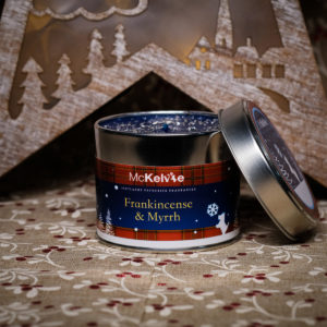 Frankincense & Mhyrrh Scented Candle Tin