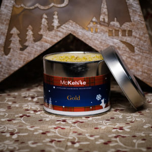 Gold Scented Candle Tin