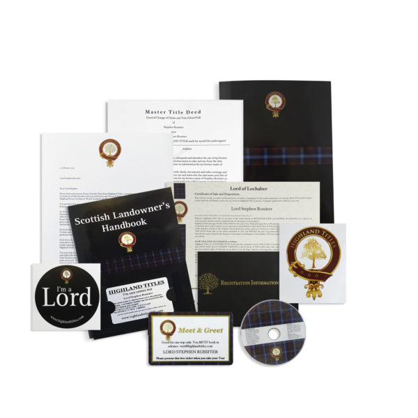 Become a Laird, Lord or Lady of Glencoe Package 2